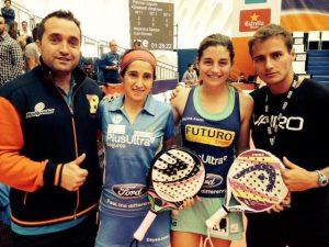 Chema Montes, Iciar Montes, Ale Salazar y Curro Torres en el WPT Valencia 2013