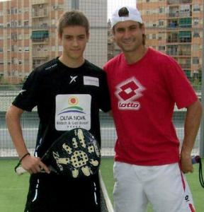 José Rico con David Ferrer