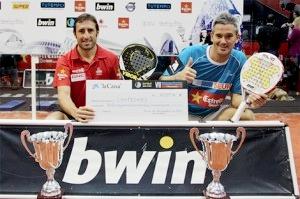 Maxi Grabiel y Miguel Lamperti tras ganar el PPT Valencia 2012