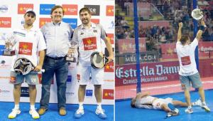 Matías Díaz y Cristian Gutiérrez tras ganar el torneo profesional de Galicia en 2013