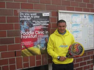 Maxi Castellote durante la impartición de un clínic en Frankfurt (Alemania)