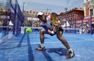 Juani Mieres en un torneo profesional en la Plaza Mayor de Valladolid