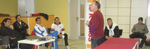 En el 3er Congreso Internacional de Pádel en Madrid con Miguel Lamperti, Maxi Grabiel y Máximo Castellote